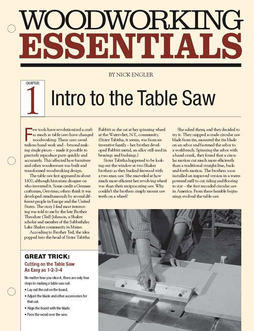 Our seven-part series begins with an in-depth look at the basics of table saw setup, including advice about which saw to buy and loads of tips and tricks.