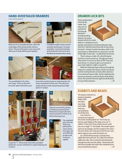 Our staff offers simple, strong and fast ways to make this important furniture component.