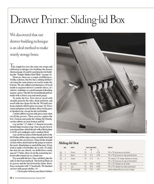 Take our super-quick drawer-making technique for a test drive by building this box.