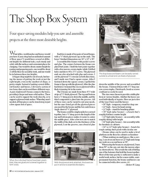 The Shop Box System