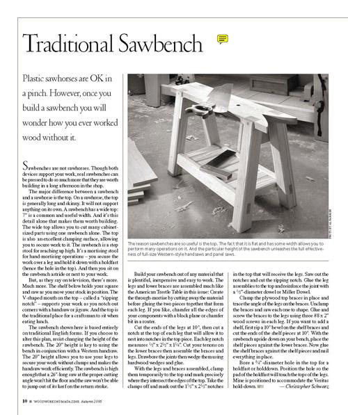 Traditional Sawbench