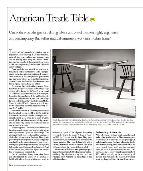 American Trestle Table