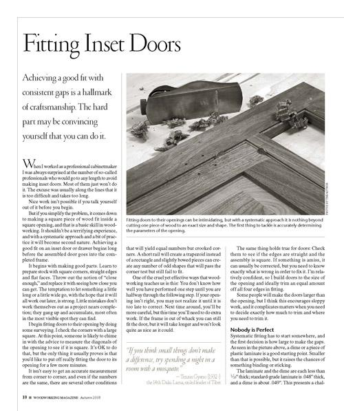 Fitting Inset Doors