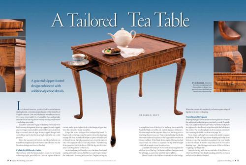 A Tailored Tea Table