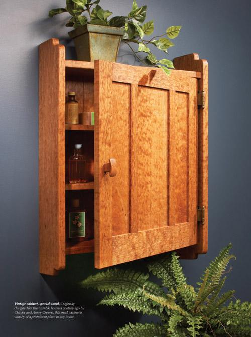 Originally designed for the Gamble house a century ago by Charles and Henry Greene, this small cabinet is worthy of a prominent place in any home.