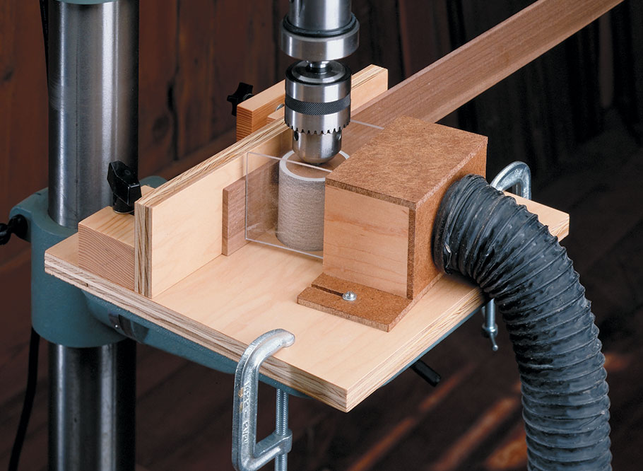 Making accurate, thin strips is easy to do with this sanding jig.