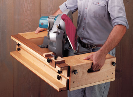 With this portable saw station, your miter saw works even harder. It combines extension wings for long stock with a stop system for accurate repeat cuts.