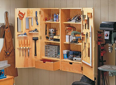 Wall-Mounted Tool Storage