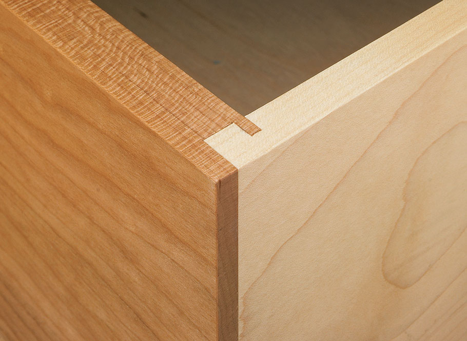 Looking for a strong, simple drawer joint? We show you how to make two types of locking rabbet joints.