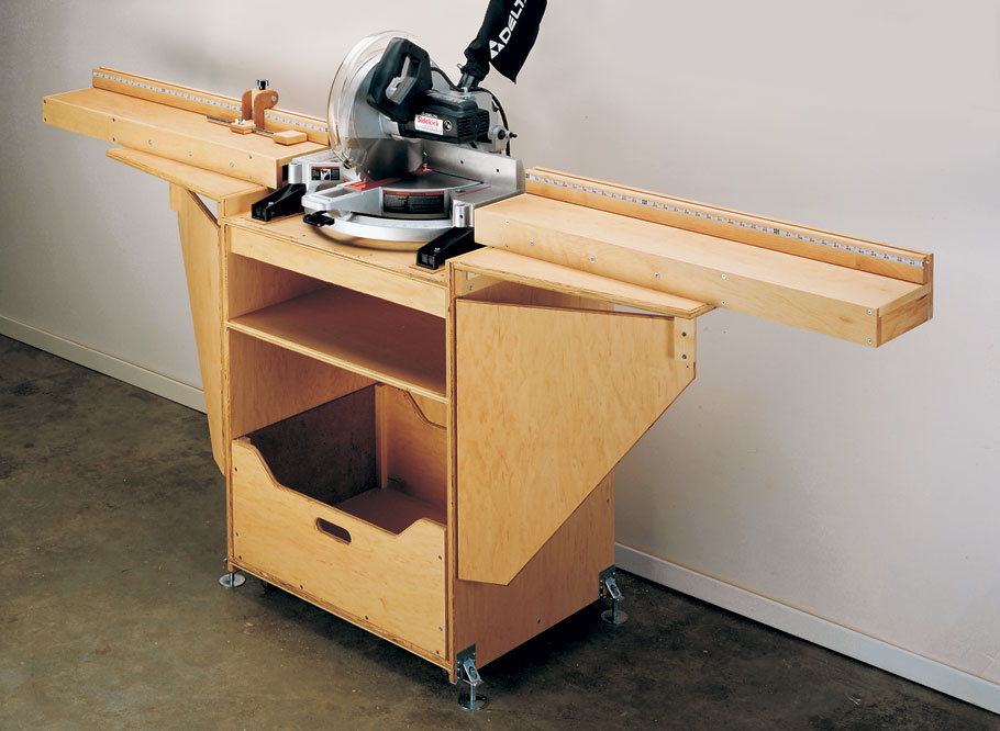 Miter Saw Station Woodworking Project Woodsmith Plans