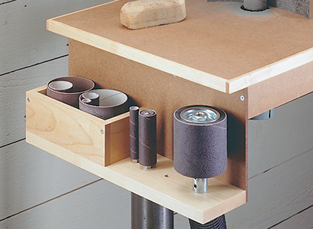 Convert your drill press into an oscillating drum sander with this shop-built accessory.
