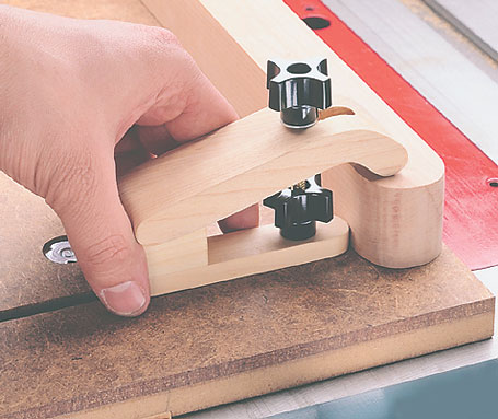 Three jigs in one. Cut long angle on a workpiece, perfect and consistent tapers, or rip a straight edge on rough-sawn lumber.