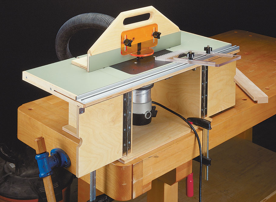 The small size of this router table doesn't mean it doesn't pack a punch. It packs all the functions of a full-sized router table.