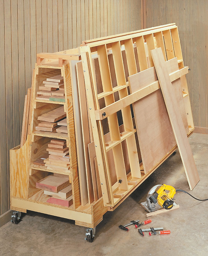 Roll Around Lumber Cart Woodworking Project Woodsmith