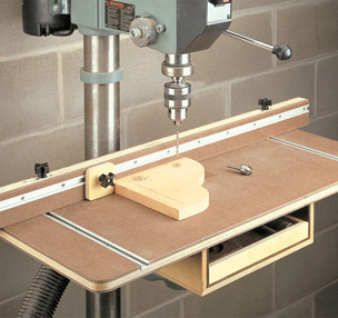 Drill Press Table with Storage