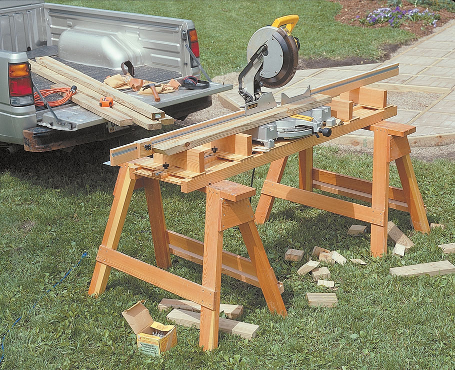 Portable, sturdy, adjustable, and accurate. This miter saw station has it all.