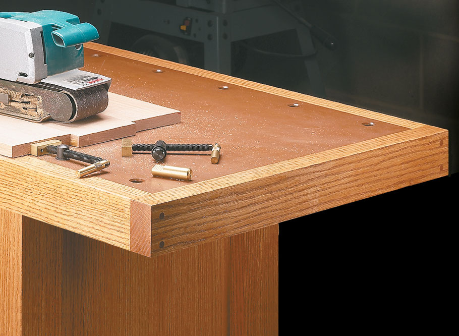 With solid construction and two vises, there isn't a task this classic workbench can't handle.