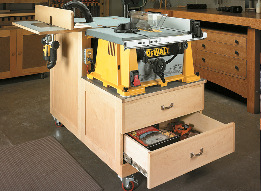 You'll get big results in a small package with this handy workstation. It turns your portable table saw and router into hard-working