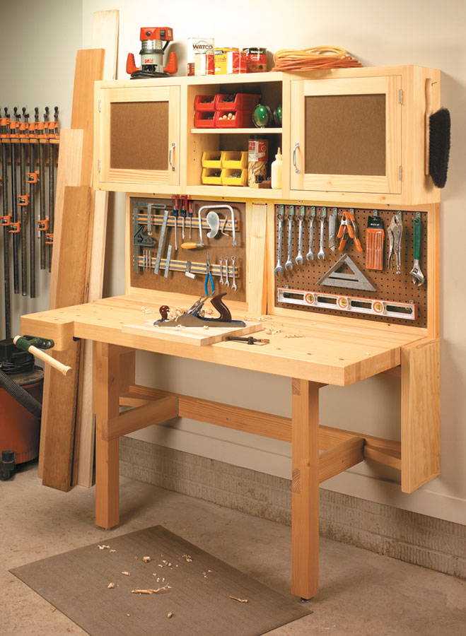 Fold Down Workstation Woodworking Project Woodsmith Plans