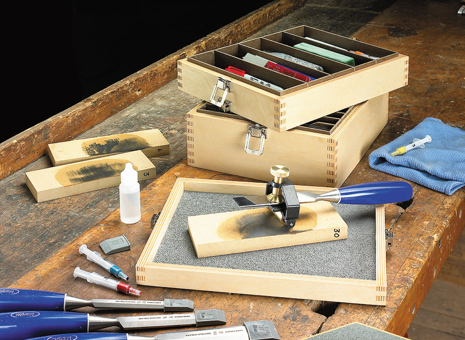 Corral all your sharpening supplies in one spot and you'll never have to deal with a dull tool again.