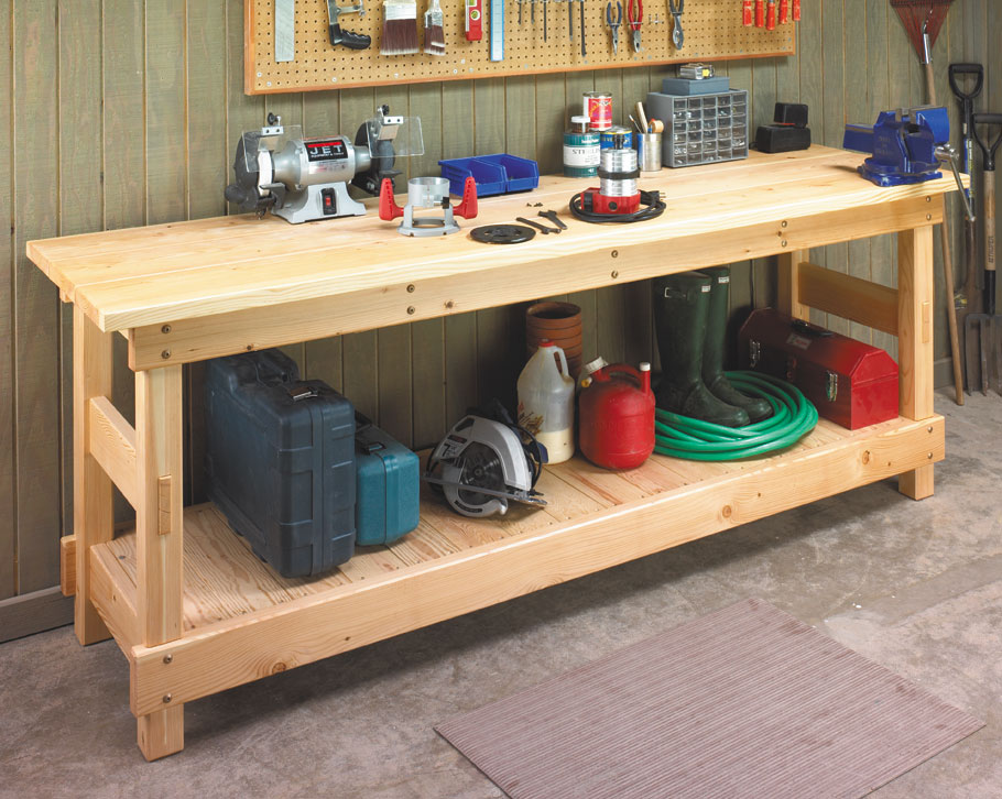 Build this workbench in a weekend with materials you can find at the local home center and then use it for a lifetime.