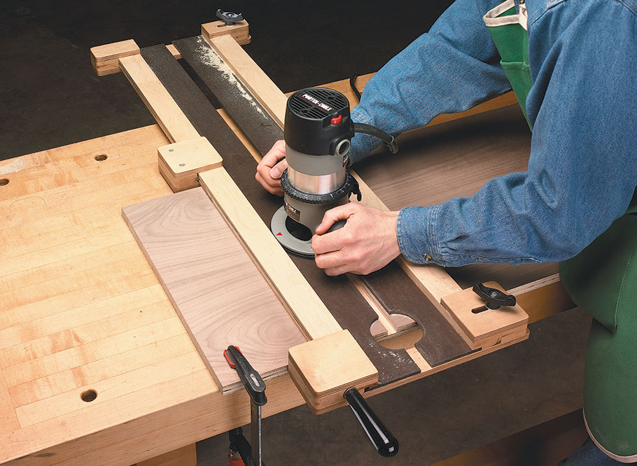With this shop-made jig, you'll be routing dadoes and grooves that fit perfectly. Plus, it features a handy, built-in clamp that makes setup a snap.