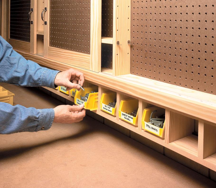 Shop Cabinets: Sliding Door Shop Cabinet