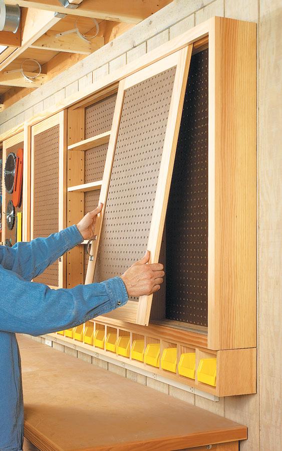 Sliding Door Shop Cabinet Woodworking Project