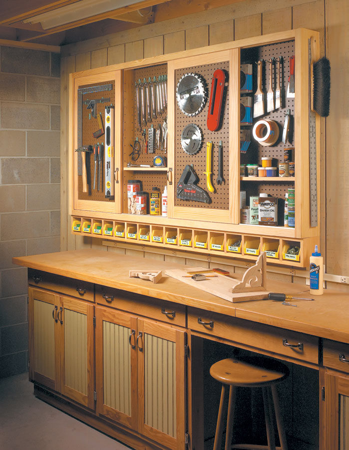 Sliding Door Shop Cabinet Woodworking Project