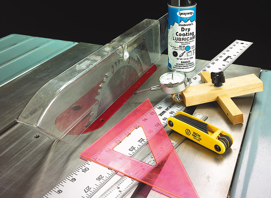An afternoon is all it takes to tune-up your table saw for peak performance and precision results.