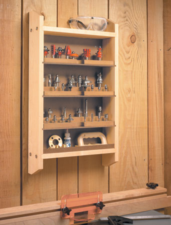 Router Bit Storage Center