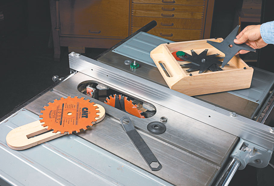 Use your dado blade to build its own storage case and keep everything organized and protected.