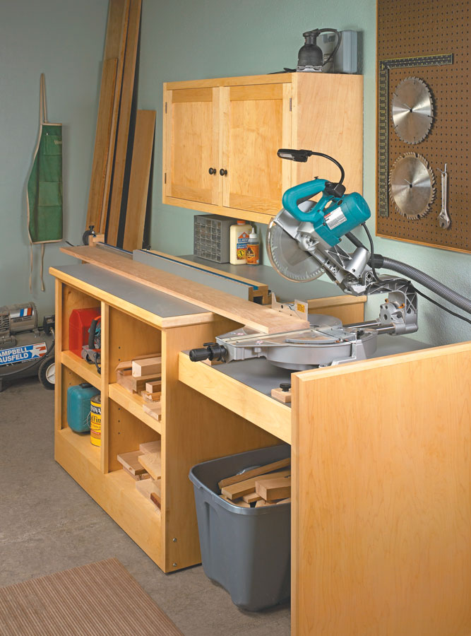With plenty of storage and a fence that extends to 8', this saw station has it all.