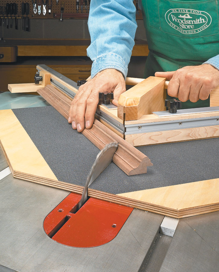 Miter joints don't have to be a trial-and-error chore. With this miter sled, you can cut perfect joints every time.