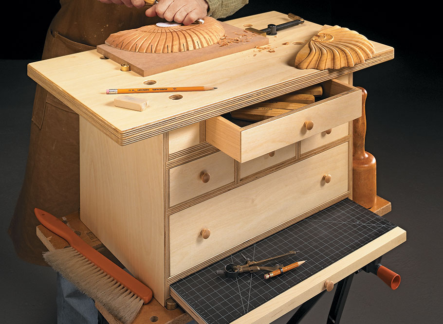 Take your favorite hobby on the go with this combination storage chest and portable workbench.