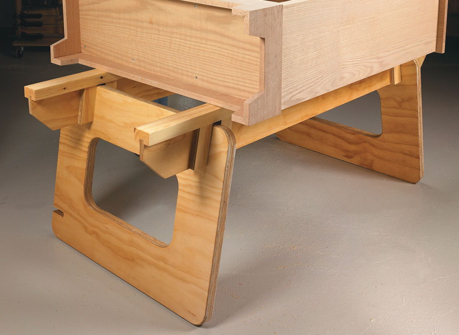 Rock-solid, practical, and inexpensive — a versatile workstation you can make from one sheet of plywood.