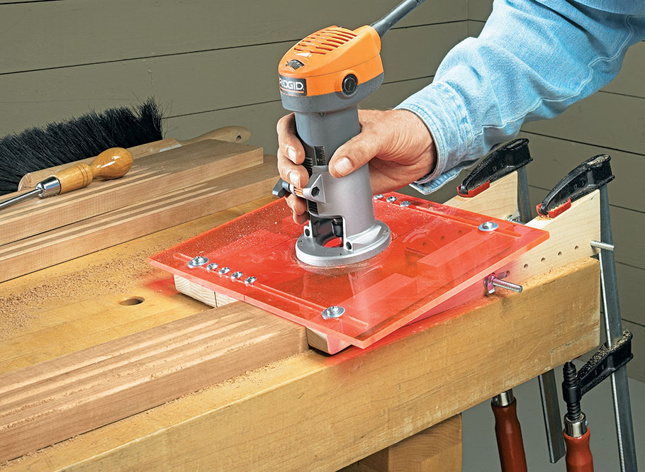 Adding flutes is a great way to dress up a project. This shop-made jig makes it easy to rout consistent flutes quickly.