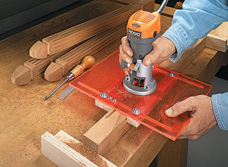 Palm Router Fluting Jig