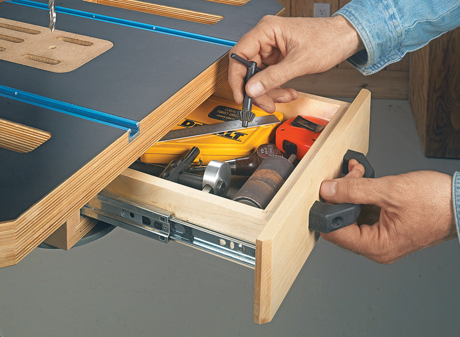 An adjustable fence, versatile clamping options, and a built-in dust collection system make this table a great upgrade.
