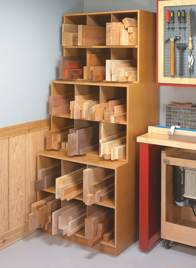 This project blends plenty of storage and organization in a three-piece, stackable unit.