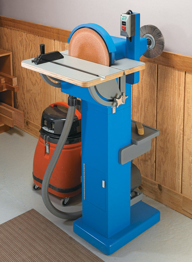 The large sanding disk and extended arbor makes any sanding or smoothing task a breeze.