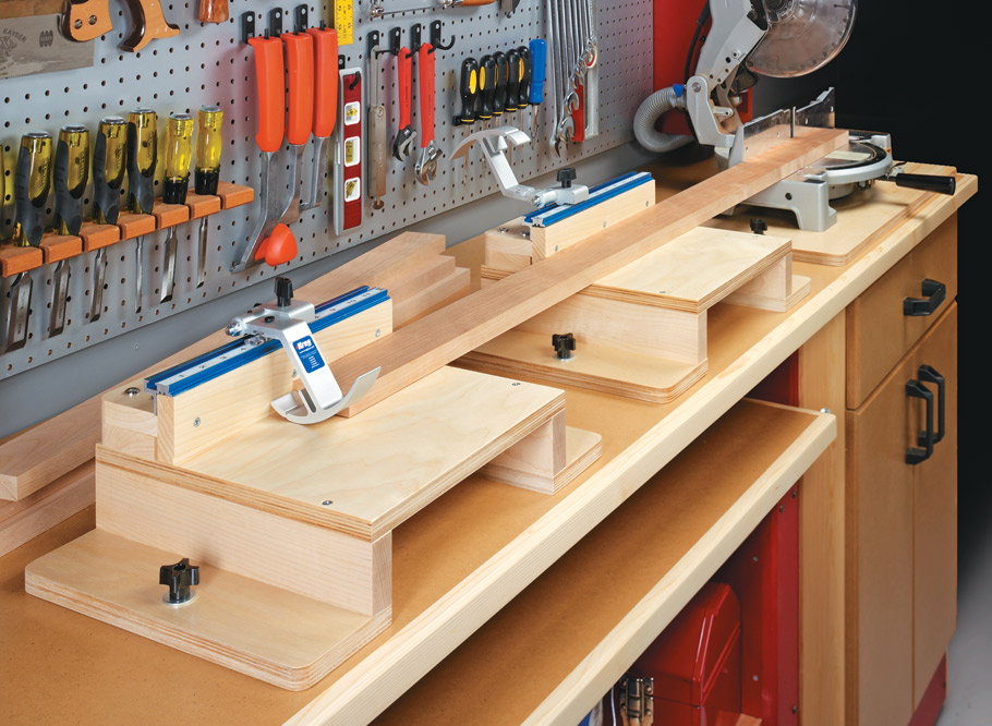 This no-fuss fence system makes getting accurate cuts with your miter saw as easy as 1-2-3.