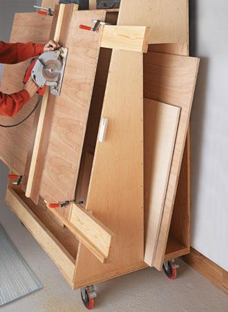 Panel-Cutting Lumber Cart