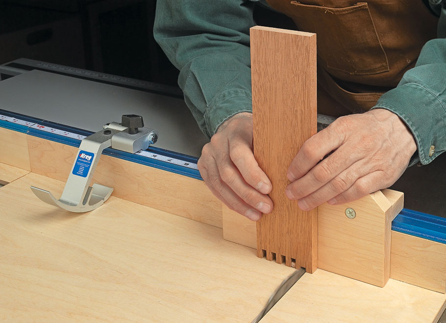 Accurate and chip-free crosscuts plus a versatile fence make this a must-have for your table saw.