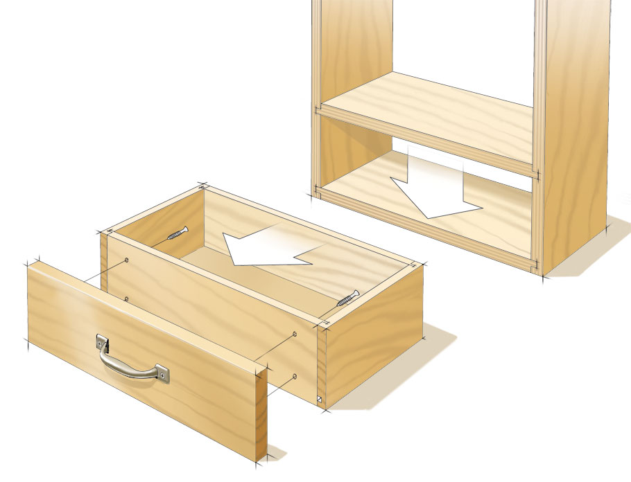 This versatile joint makes it easy to create strong and sturdy cases and drawers.