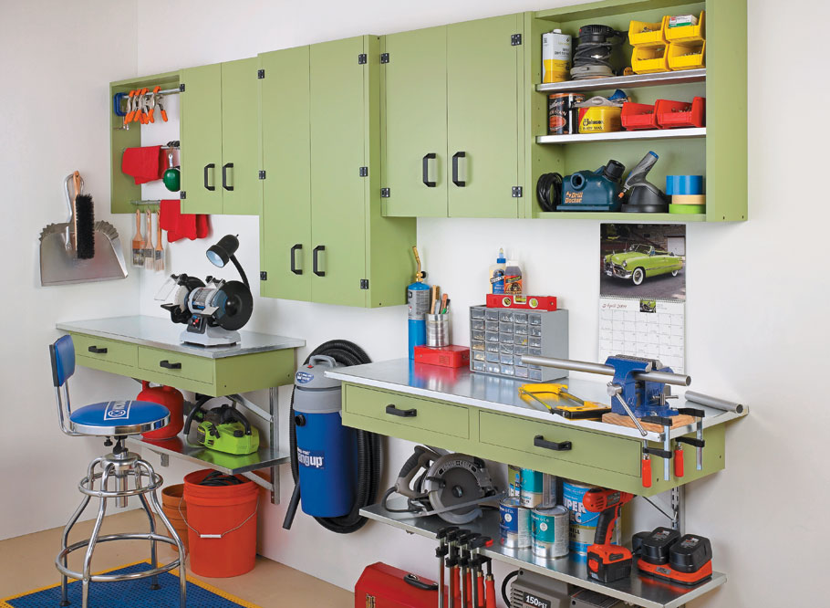 Inexpensive and easy to build, this wall-mounted system is a great way to add versatile storage to any shop.