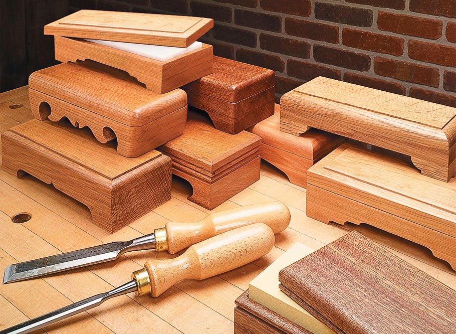 These sharp-looking boxes provide protection for your stones while keeping them handy whenever you need them.