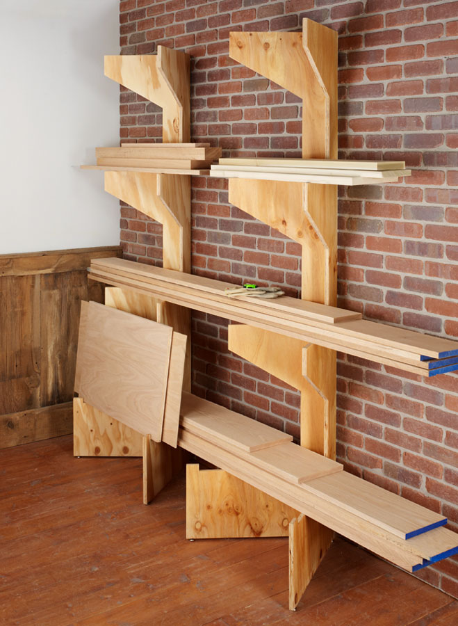 All it takes is one sheet of plywood to build these strong and sturdy racks that fold for easy storage.