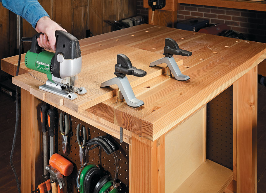 Heavy-duty design, large worksurface, and loads of storage add up to a versatile project.