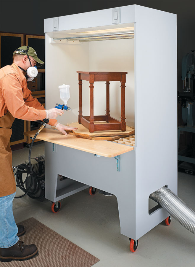 This spray booth keeps your shop clean and helps you get the best finish possible.
